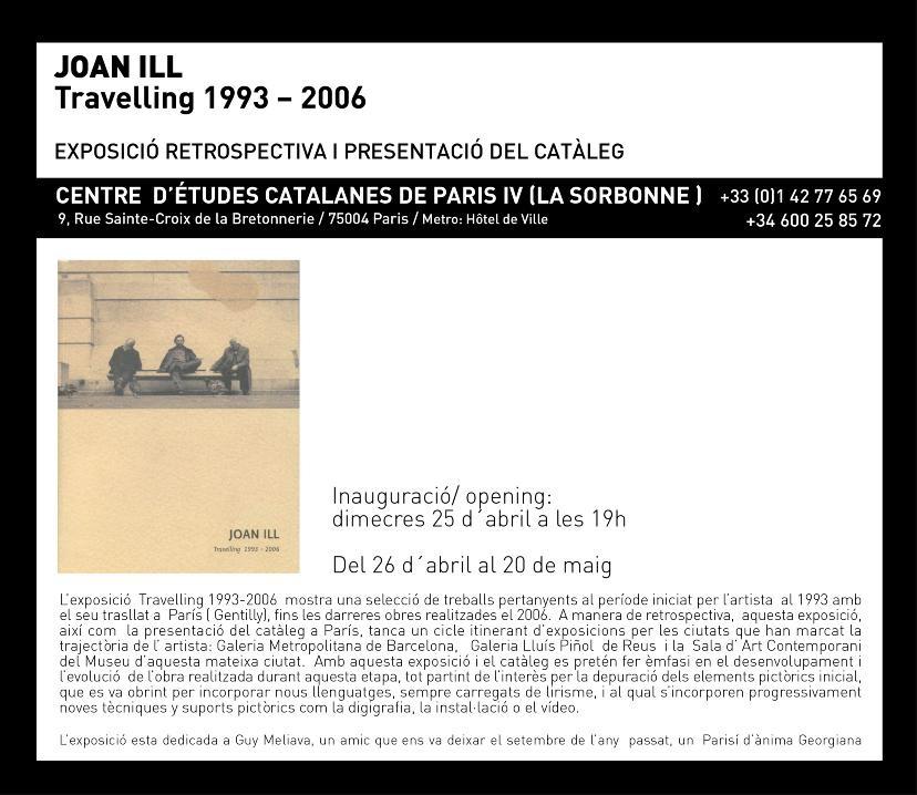 "Exposición retrospectiva ""Travelling 1993-2006"" de Joan Ill"